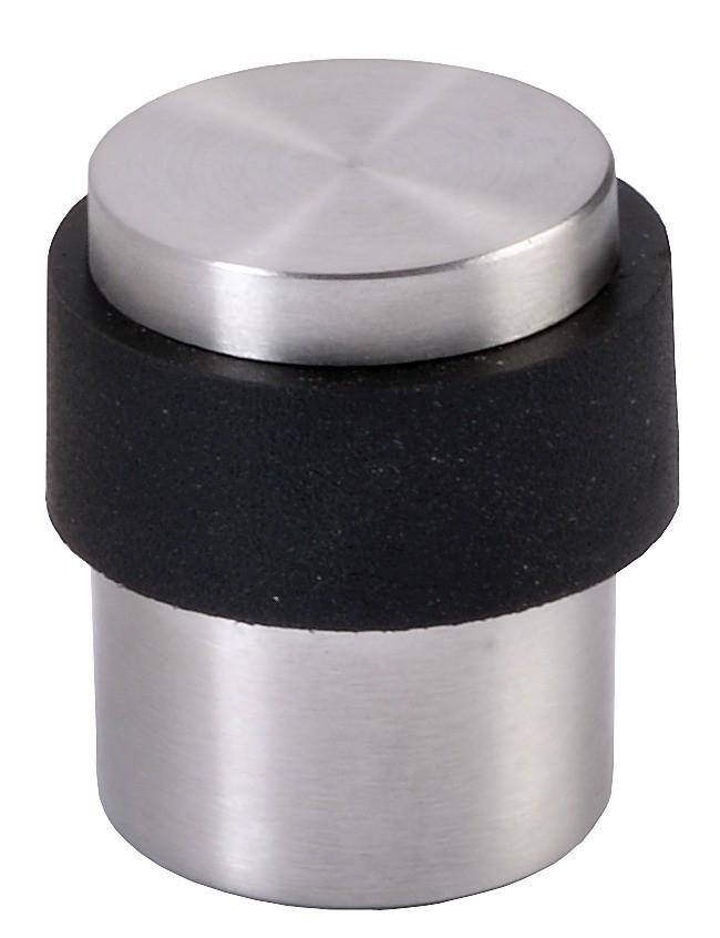 Butoir de porte : Pour fixation au sol - inox et élastomère J-RoX