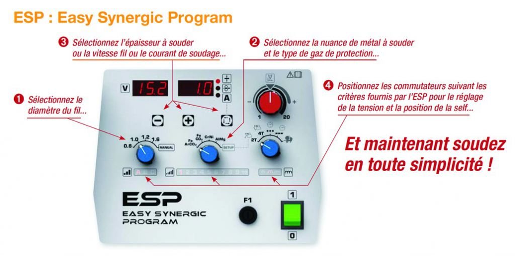 Poste de soudage Mig-Mag : Citostep 300C pack