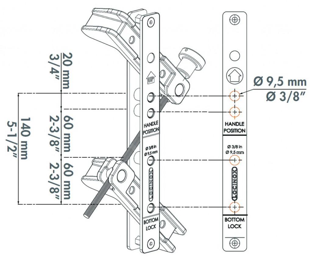 Serrure de grille en applique : Coffret pour percage serrures et gâches Locinox - DRILL-FIX