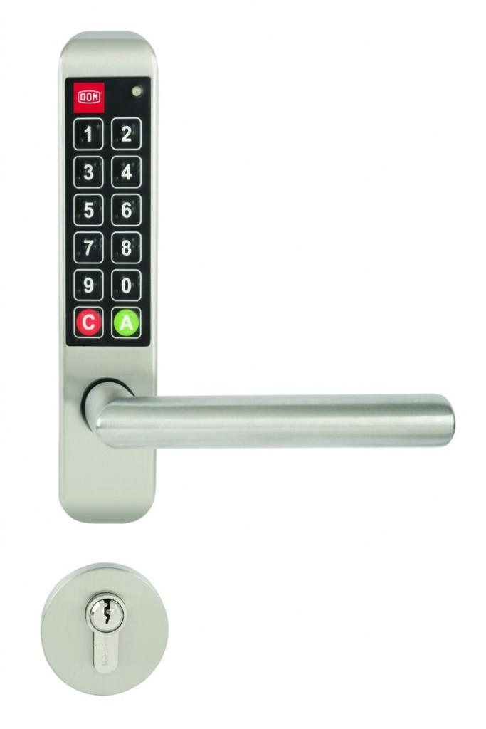 Verrou et serrure électronique autonome : Ensemble de porte électronique - Easykey Adapt