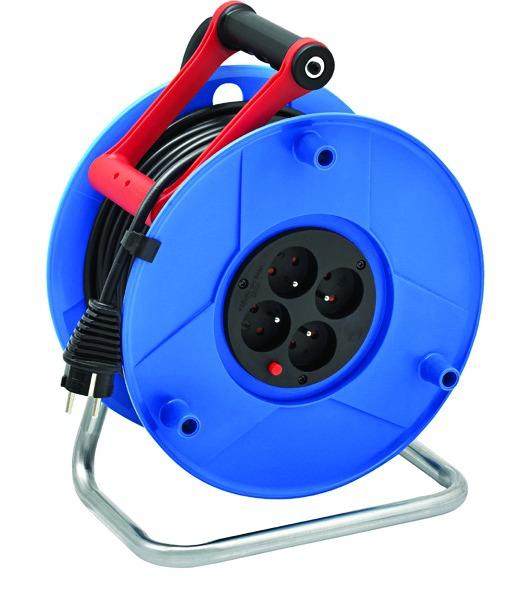 Enrouleur - prolongateur : Série S - câble HO5 VV-F 3G1,5 - avec disjoncteur thermique