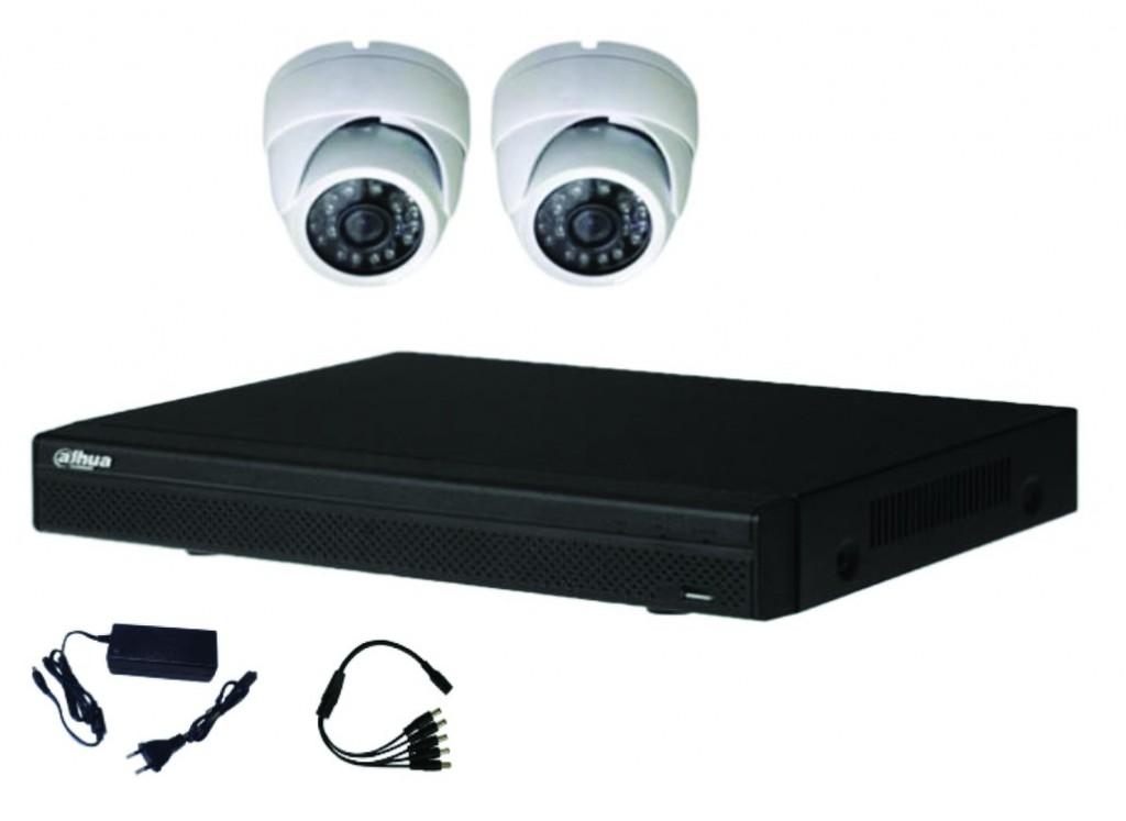 Vidéo surveillance : Kit vidéo HDCVI 2 dômes 2MP-1080P