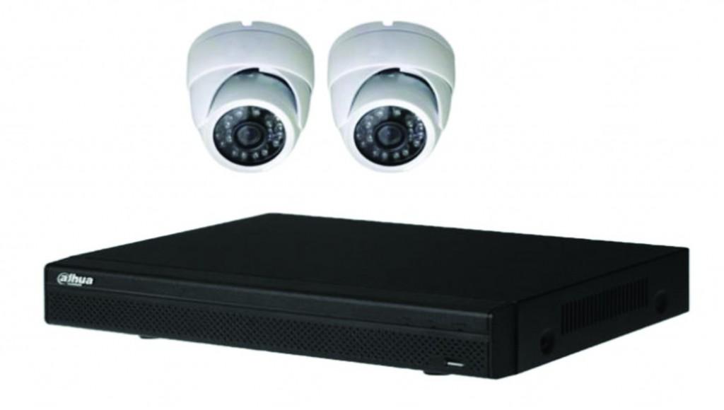 Vidéo surveillance : Kit vidéo IP 2 dômes POE 2MP-1080P