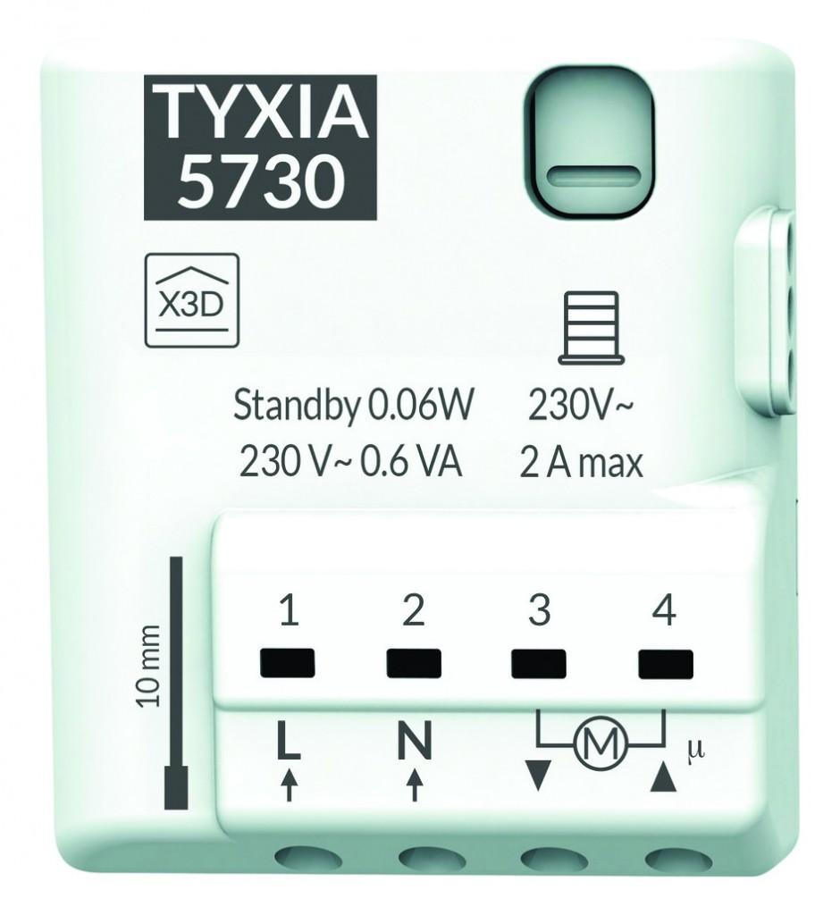 Solution domotique : Récepteur radio micro-module volet roulant TYXIA 5730