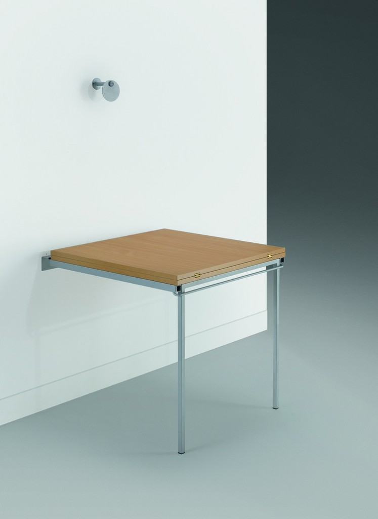 Pieds de table rabattables : Support pour table mural pliable alu