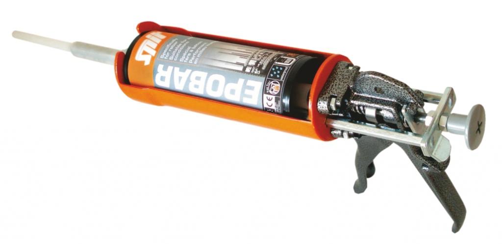 Scellement par injection : Pistolet d'injection pour cartouche Epobar - Epomax et C-Mix 380 ML