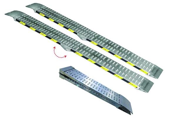 Rampes aluminum : Rampe aluminium pliante sans rebords