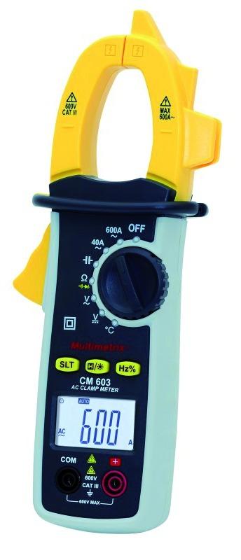 Testeur d'électricité : Pince ampèremétrique 600 A AC - Multimetrix - CM 603