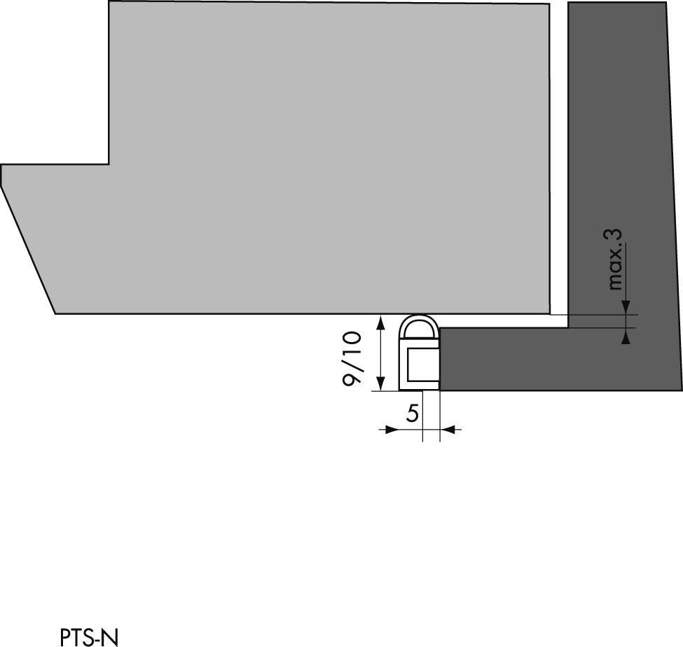 JOINT PROFIL PTS/N BLANC 3,00M