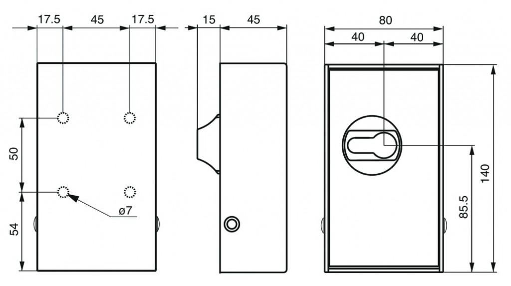 Ordonnancement : Boîte à clé murale pour cylindre européen