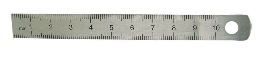 Réglet flexible 2 faces - acier chromé mat