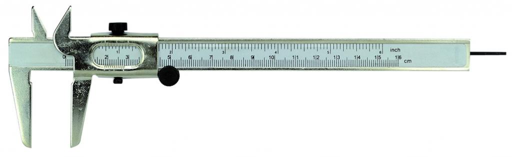 Pied à coulisse pour mesure intérieure et extérieure : Lecture 0,1 mm