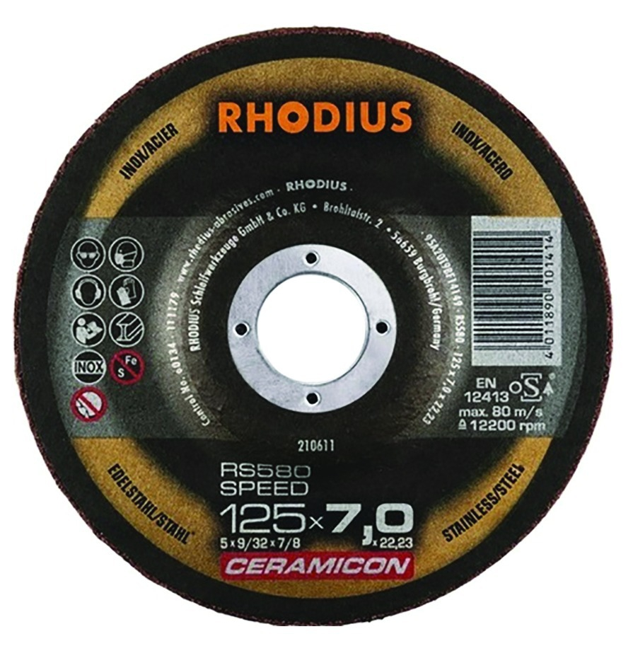 DISQUE D'EBARBAGE INOX RS580 SPEED