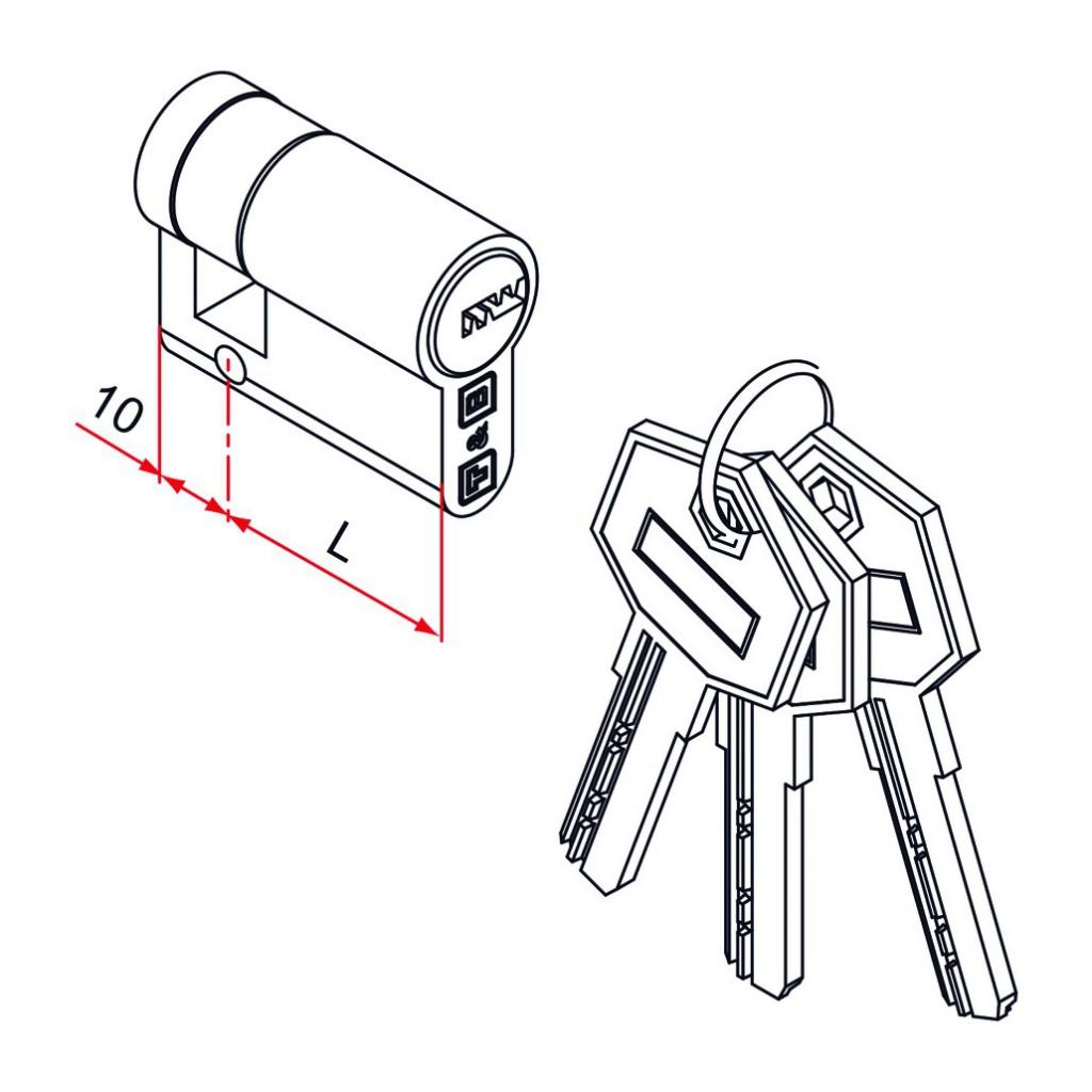 Cylindre européen 6 goupilles : Demi-cylindre oxyloc pour portail
