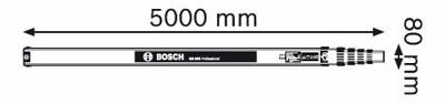 MIRE ALU. TELESCOP. 5M- BOSCH GR500
