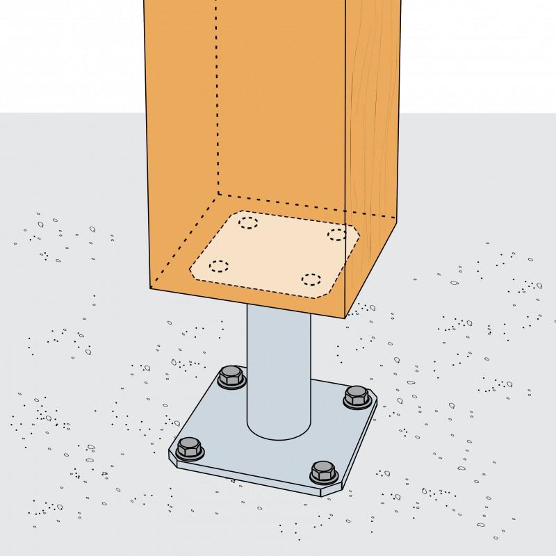 Connecteur métallique assemblage bois : Simpson
