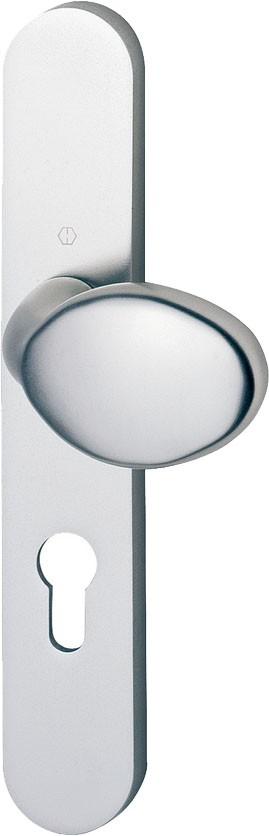 Ensemble aluminium anodisé : 1/2 Ensemble palière plaque 234 x 38 mm