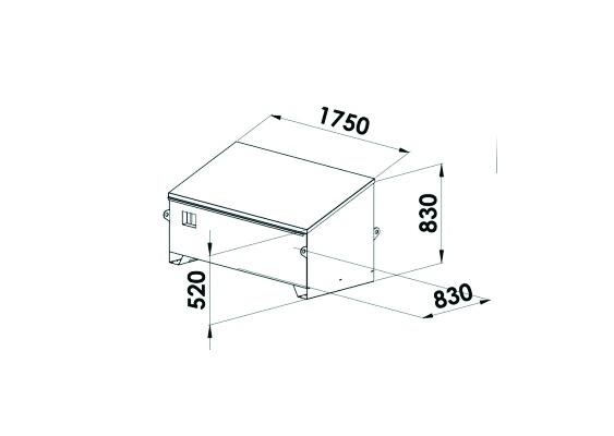 COFFRE T.P.1750X830X830/520 INCLINE