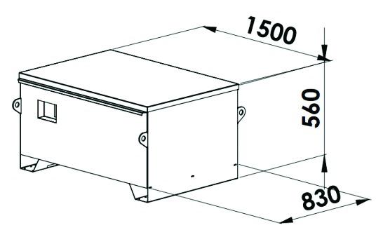 COFFRE T.P.1500X830X560 CADENAS