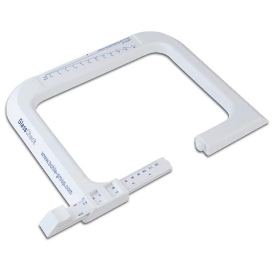 Outil de miroitier : Glasscheck  appareil de mesure en plastique
