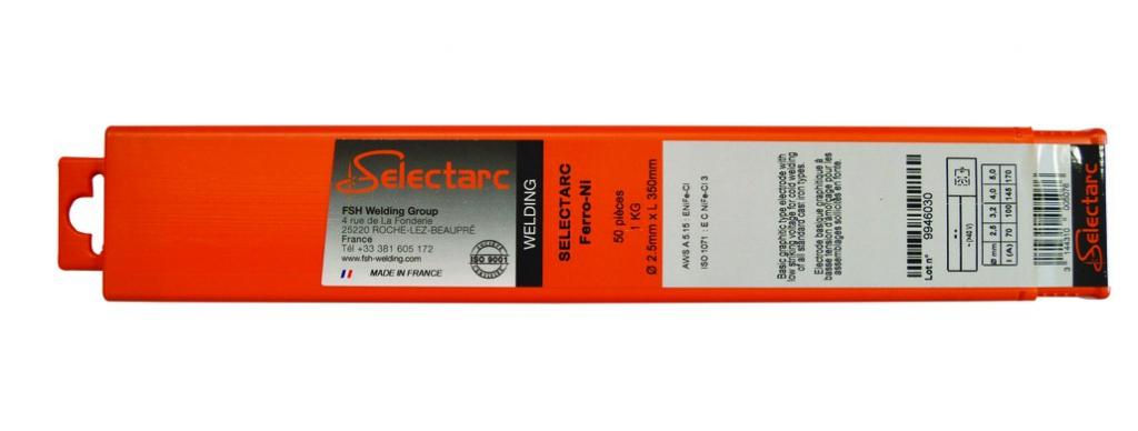 Consommable pour soudure à l'arc : Électrode fonte