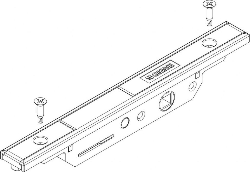 Ferrure Giesse aluminium pour gorge européenne : Mecanisme bidirection. m90 futura