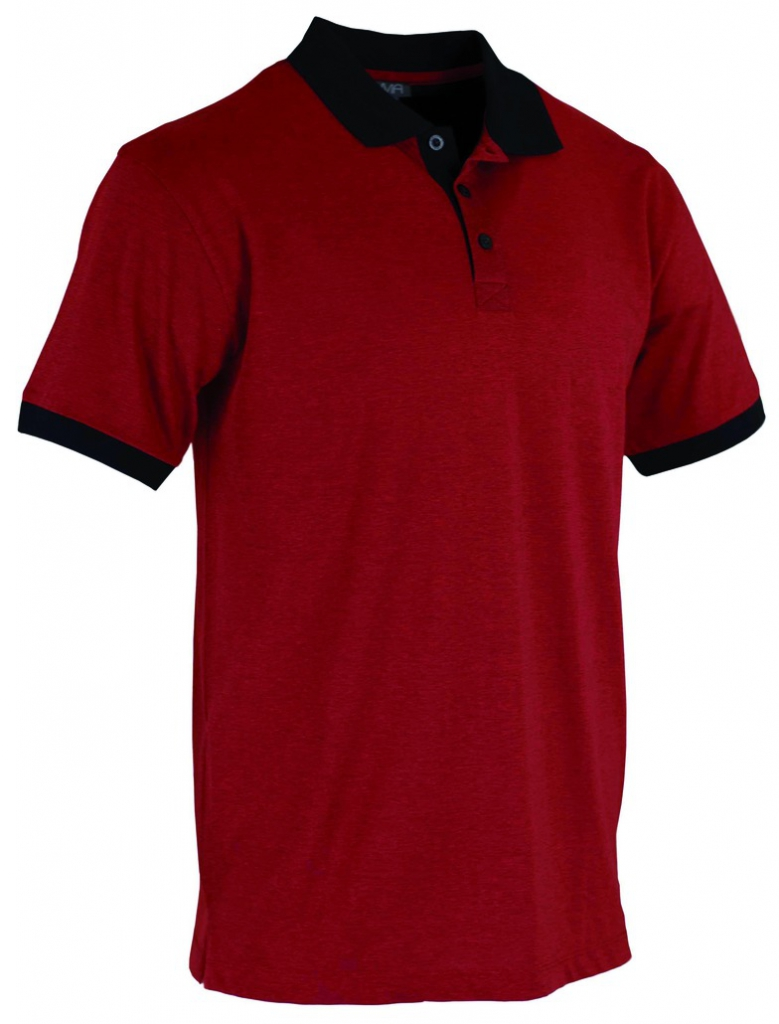 POLO BICOLORE MC ROUGE NOIR T2 S