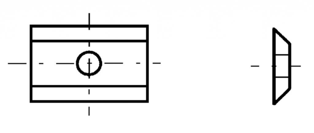boite de 10 pièces Plaquette carbure 20x12x1.5 mm
