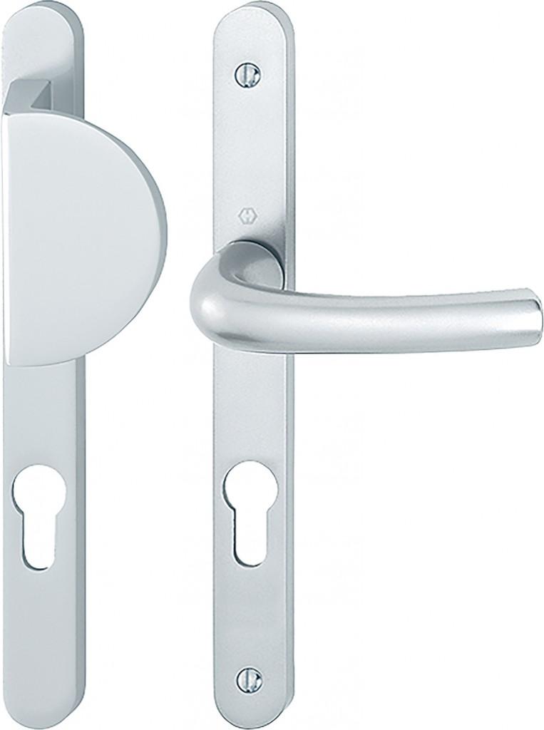 Ensemble aluminium anodisé : Plaque étroite - palière - 234 x 24 mm