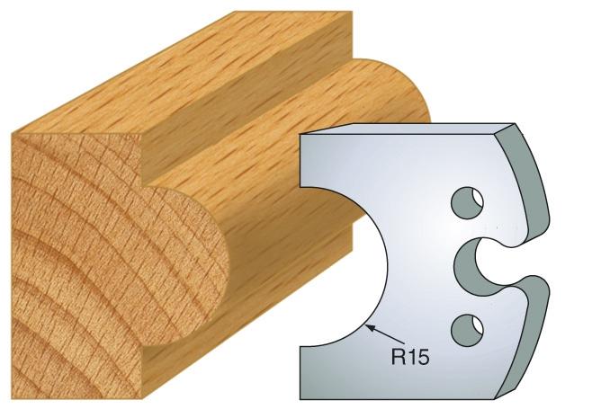 Outil de toupie : Hauteur 50 mm  - épaisseur 5,5 mm - entraxe 24 mm