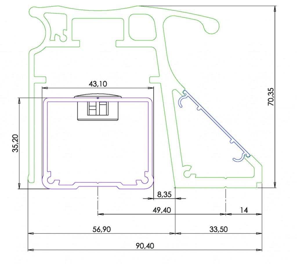 BANDEAU VENT.2M50 2V.300KG 12/24/48