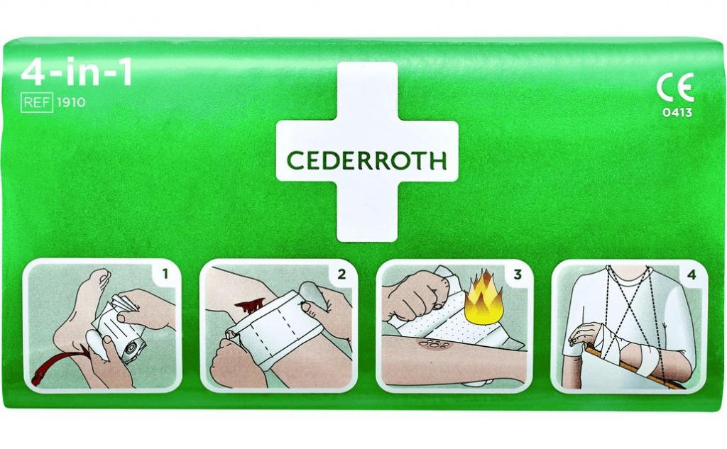 Trousse de secours : Stop-Sang 4-en-1 Cederroth