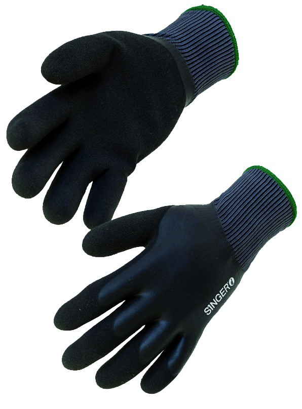 Gants hiver : Gant double enduction latex fourré