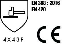 Gants contre les coupures : Gant enduction PU renfort - classe F