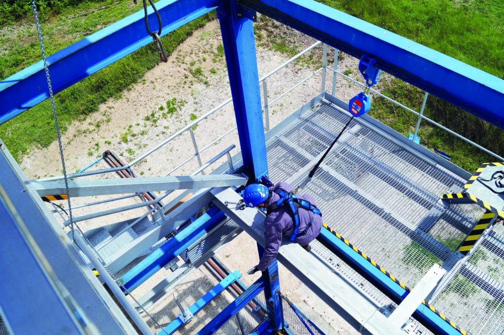 Harnais de sécurité Tractel : Antichute à rappel automatique à sangle blocfor™ 6 ESD 150 kg