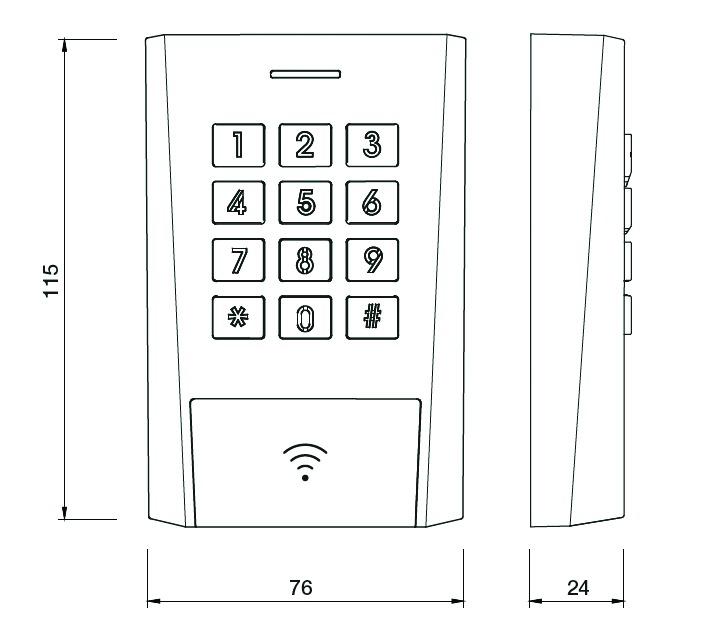 Contrôle d'accès filaire : Clavier à code AXK320
