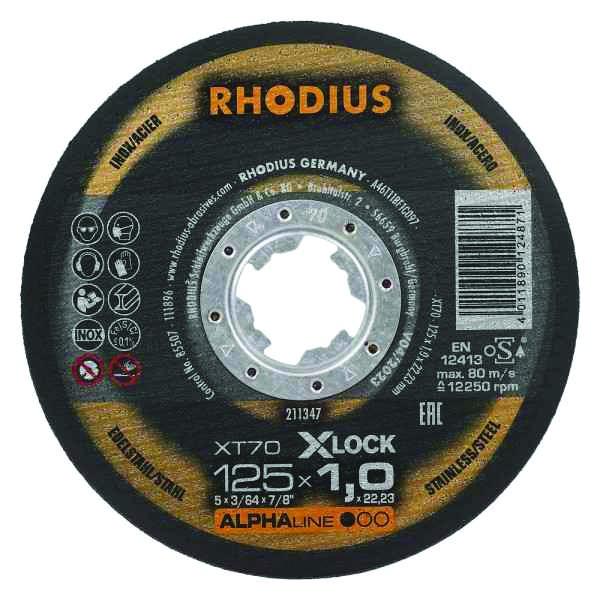 DISQUE XT70 X-LOCK 125X1,5X22,2