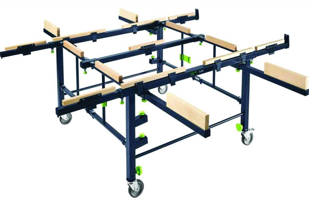 Table de sciage : Table mobile de sciage et de        travail stm 1800