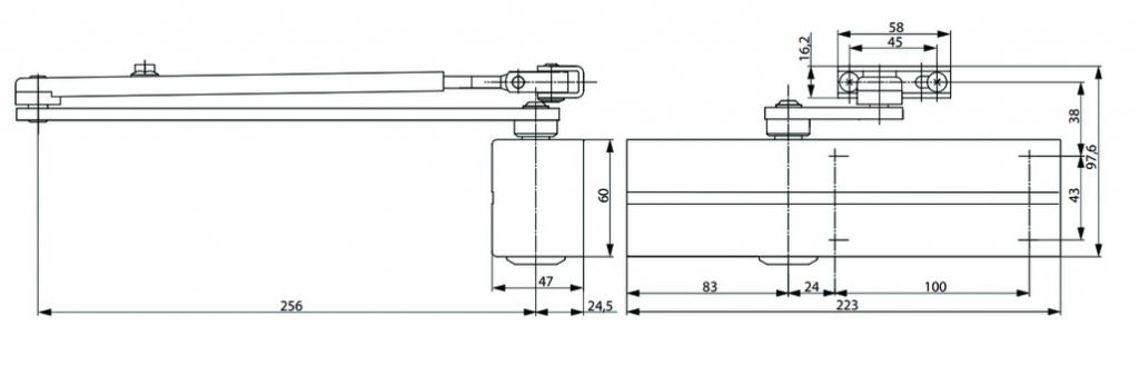 Ferme-porte Vachette : Ferme-porte DC 200