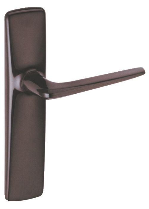 Ensemble rivyl : Plaque 184 x 40 mm - entraxe de fixation 165 mm