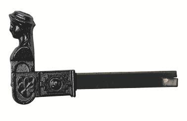 Ferrure de volet et portail : Tête de bergère - à sceller