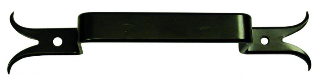 Poignée : Queue de carpe - acier noir