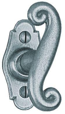 Garniture acier : Bouton de fenêtre 70 x 35 mm