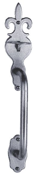 Garniture acier : Loquet poucier