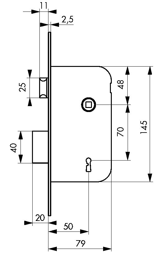 SURETE LARD.4G.BC A50 A EQUERRE REV