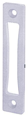 Serrure pour menuiserie métallique : Plate haute et basse pour serrure 6370 et 6374 et serrure en pêne D - jeu de 2