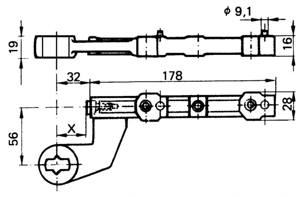 FERRURE S.A.BAS T.RECT.   TS500