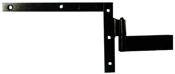 Ferrure de volet et portail : Equerre du haut à gond à scellement acier époxy noir