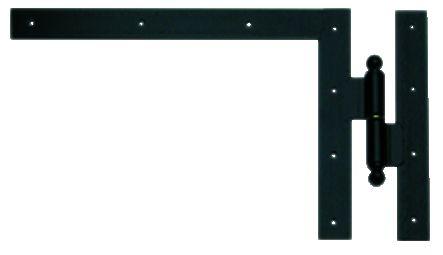 Ferrure de volet et portail : Equerre du haut à gond à paumelle acier cataphorèse noir
