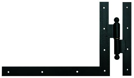 Ferrure de volet et portail : Equerre du bas à gond à paumelle acier cataphorèse noir